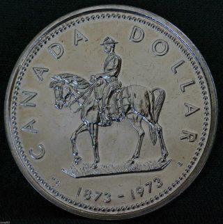 1973 Canada Rcmp Centennial Commemorative Silver Dollar photo