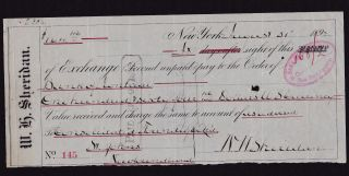 1892 Bom/union Bank Of Newfoundland/foundry Bill Of Exchange photo