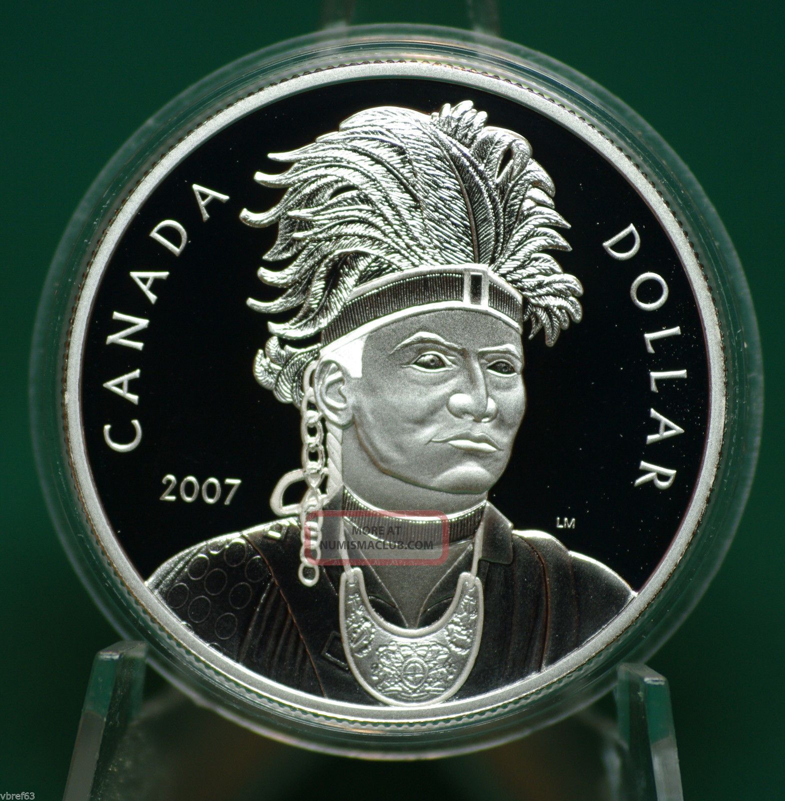 2007 Canadathayendanegea Dollar Proof Finish - A1 - Coin Only Coins: Canada photo