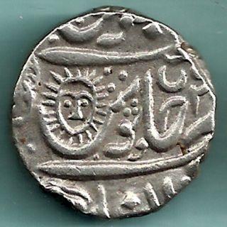 Indore State - Ah 1203 - Shahalam Ii - Shivaji Holkar - One Rupee - Full Date photo