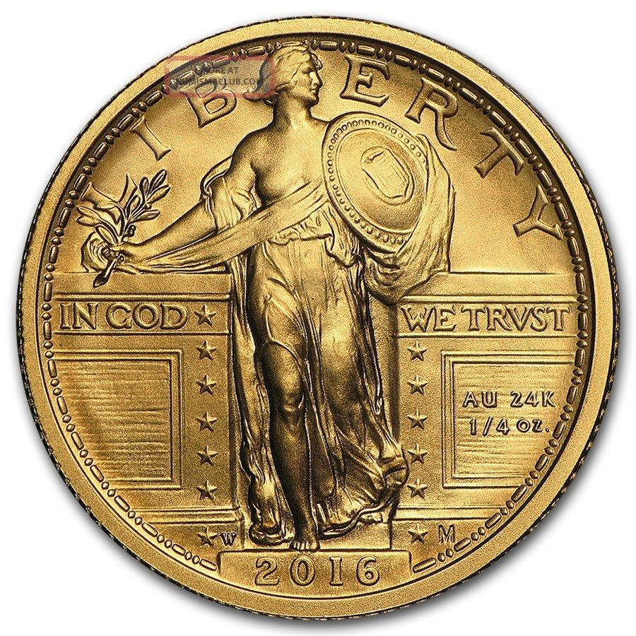 2016 W 100th Anniversary Standing Liberty Quarter 9999 Pure Gold $574.  88 Coins: World photo