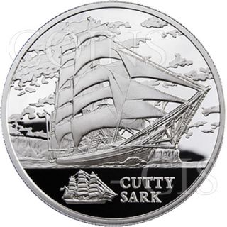 Belarus 2011 20 Rubles The Cutty Sark Sailing Ships Bu Silver Coin photo