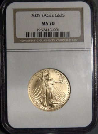 2005 $25 American Gold Eagle Coin Ngc Certified Ms 70 Inv 826 photo
