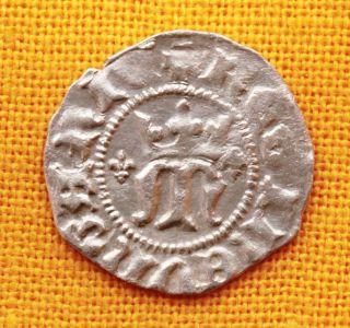 Medieval Hungarian Coin - Maria Queen 1382 - 1395.  Silver Denar photo