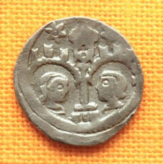 Medieval Hungarian Coin - Ladislaus Iv.  Silver Denar.  (1272 - 1290),  Unger: 300 photo