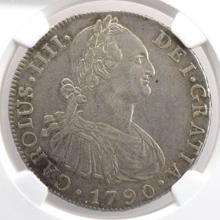 Guatemala 8 Reales 1790 Ng M Bust Of Charles Iv Ngc Au50 Km - 53 photo