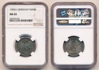 1905a Germany Mark Ngc Ms65 Gem With Toning photo