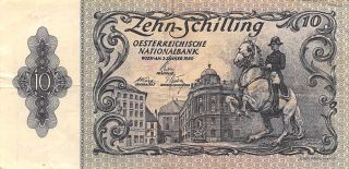 Austria 10/ - 2.  1.  1950 Series 1711 Circulated Banknote Je14j photo