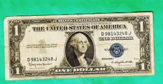 Series 1935 H One Dollar Silver Certificate==good photo
