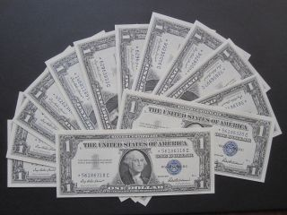 1957 $1 Star Note C $1.  00 Silver Certificate Gem Cu Unc Us Money Buy 1 Or ? photo