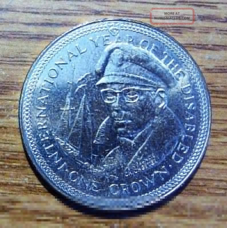 1981 Isle Of Man Crown Take A Look Coins: World photo