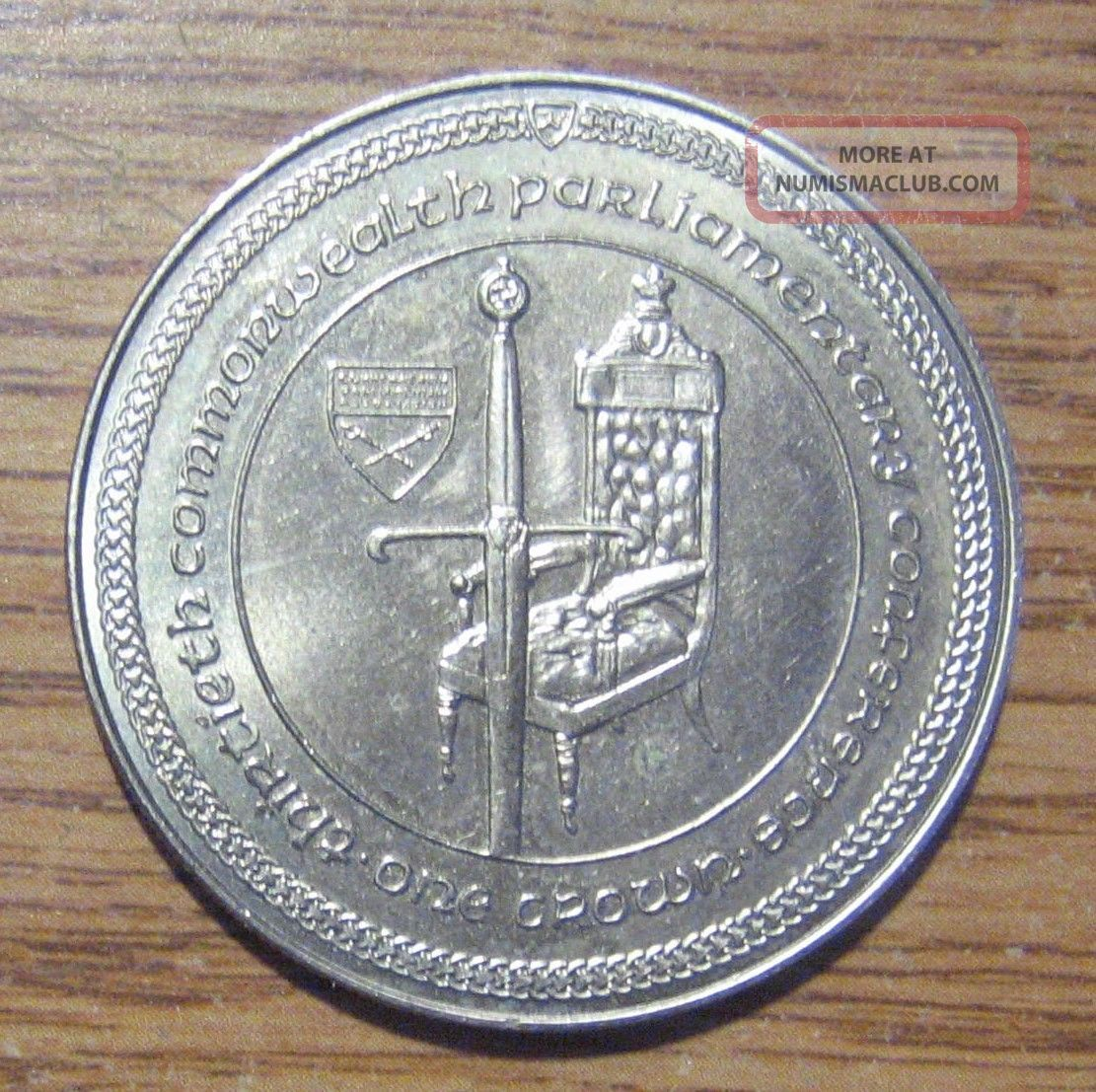 1984 Isle Of Man Crown Take A Look Coins: World photo