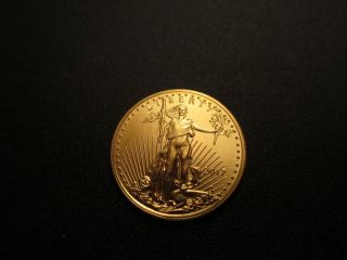 2017 - $5 1/10oz Gold American Eagle Bu photo