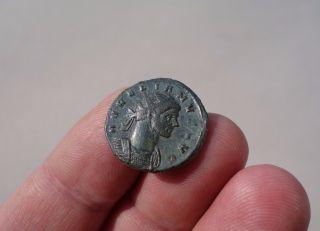 Aurelian 274ad.  Roman Antoninian Coin,  Sol With Globe Sun God Cult,  Down A Captive photo