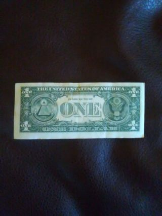 Us $1 Dollar Bill 2013 Series Error - Misaligned Up Shift Misprint photo