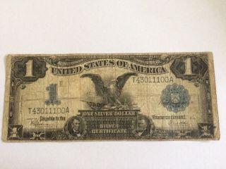 1899 $1 Black Eagle Speelman/white Silver Certificate photo