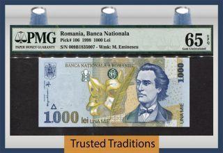 Tt Pk 106 1998 Romania 1000 Lei