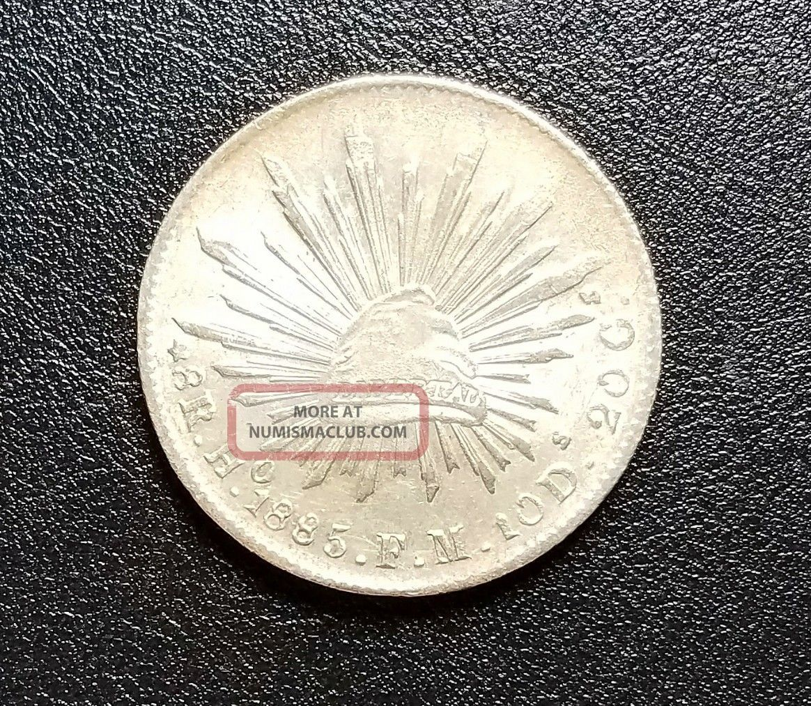 ☆☆☆ Rare 1885 Ho Fm 8 Reales - Uncirculated - Low Of 132,  000 ☆☆☆ Mexico photo