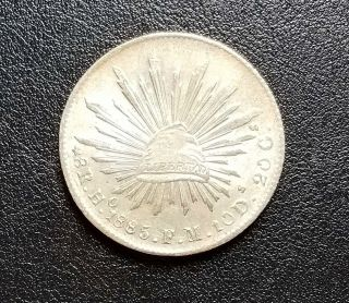 ☆☆☆ Rare 1885 Ho Fm 8 Reales - Uncirculated - Low Of 132,  000 ☆☆☆ photo
