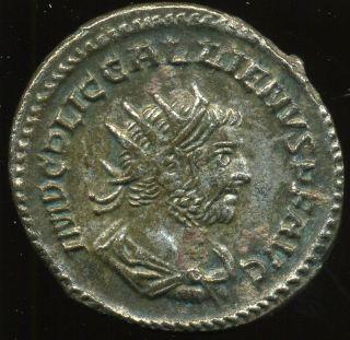 D - D Roman Empire - Gallienus (260 - 268) Billon Antoninianus,  4,  06 G.  Vf/ef photo
