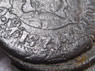 4 Coin Clump; All Half Real Silver ½ Reales.  El Cazador Shipwreck.  Mexico.  1771. photo