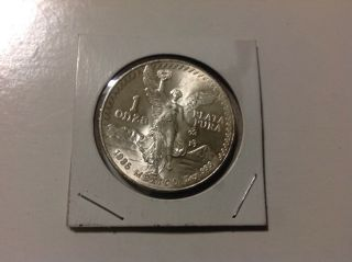 1985 Silver Mexican Libertad 1 Onza Plata Pura 1 Oz.  999 Silver Coin photo