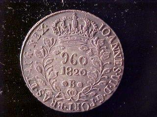 Brazil 960 Reis 1820 - B photo