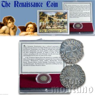The Renaissance Coin Medieval European Venice Italian Antique Box & Certificate photo