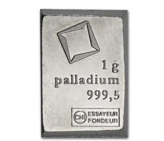 1 Gram Valcambi.  9995 Fine Palladium Bullion Bar From Sheet Of 50 photo
