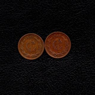 (ƻ) Bronze 1 Centavo Mexico 1947 & 1948 - Ship 50Ȼ Per Item Added photo