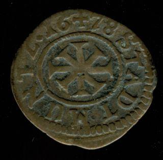 1678 Nurnberg Silver Kreuzer photo