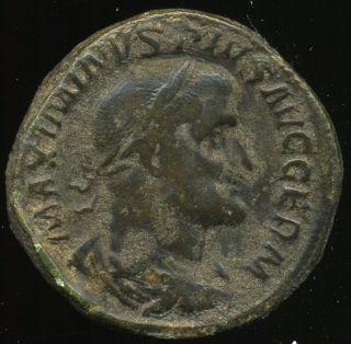 D - D Roman Empire,  Maximinus I (ad.  235 - 238) Sestertius,  23,  60 G.  Very Fine photo