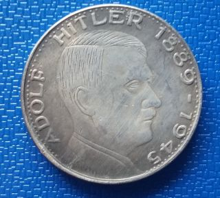 1945 Germany,  Silvered Coin Medal Token - Reich Adolf H.  Ww2 photo