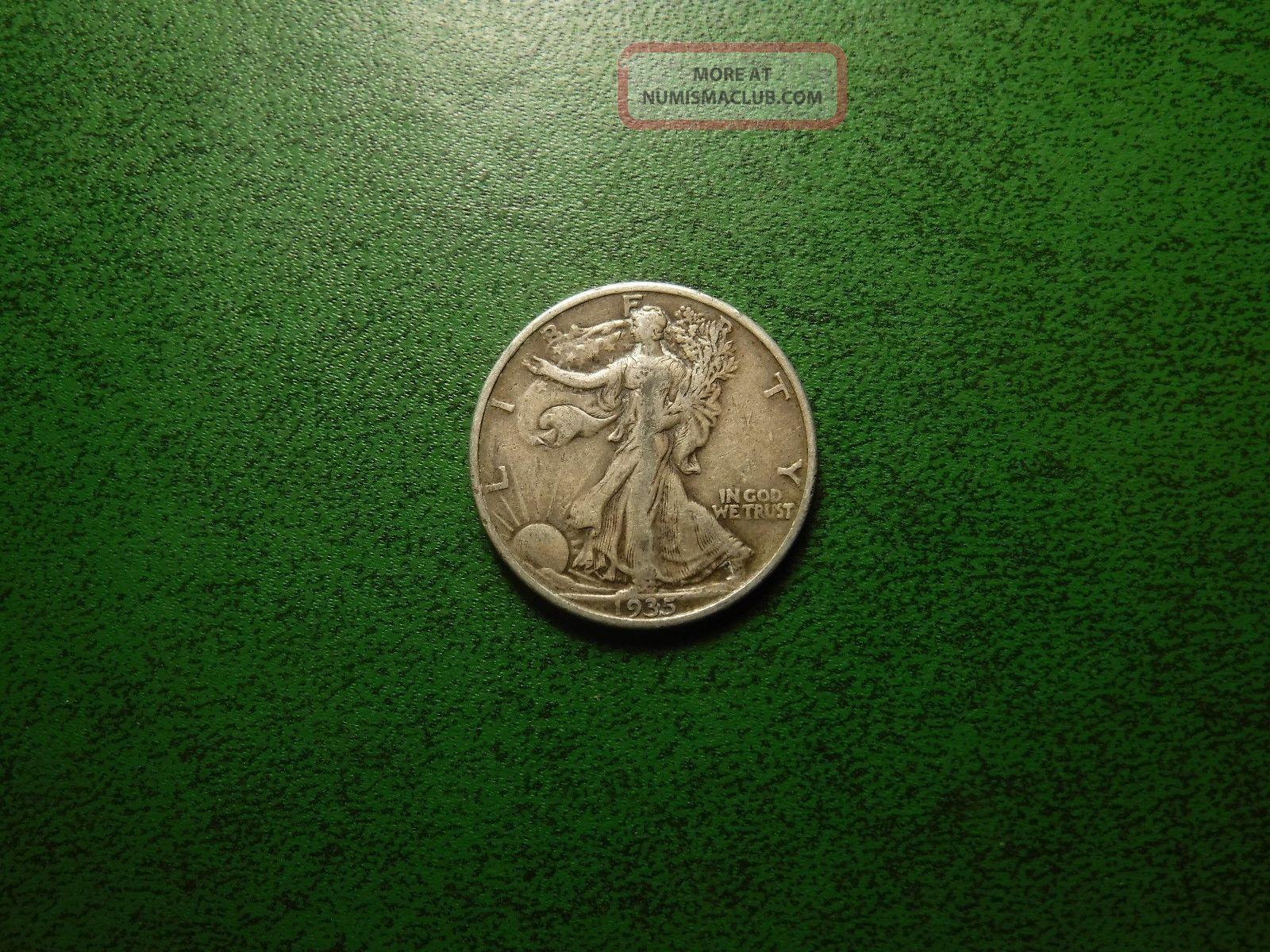 1935 - P 50c Walking Liberty Half Dollar A Coin Liberty Walking (1916-47) photo