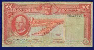 Angola 500 Escudos 1970 Pic97 Vg photo