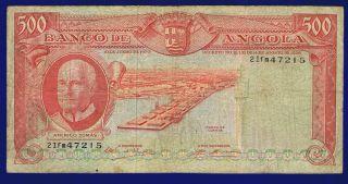 Angola 500 Escudos 1970 Pic97 Vg photo
