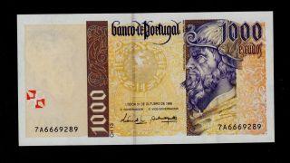 Portugal 1000 Escudos 31 - 10 - 1996 Pick 188b Unc Banknote. photo