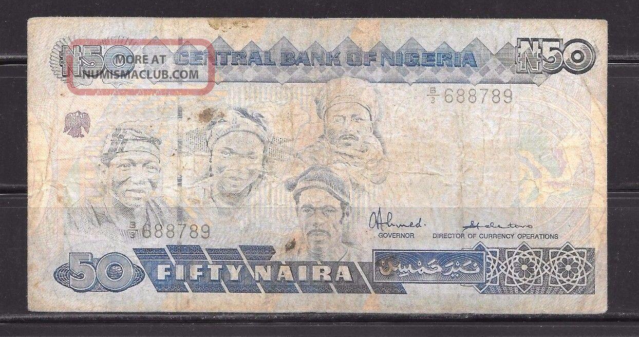 Nigeria: 50 Naira Banknote: C1991: 182 Africa photo