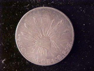 Republic Cap & Rays 4 Reales 1846 C Ce,  Rare Date,  Seldom Seen photo