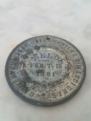Token Galveston Texas Deep Water Jubilee & Mardi Gras 1891 photo
