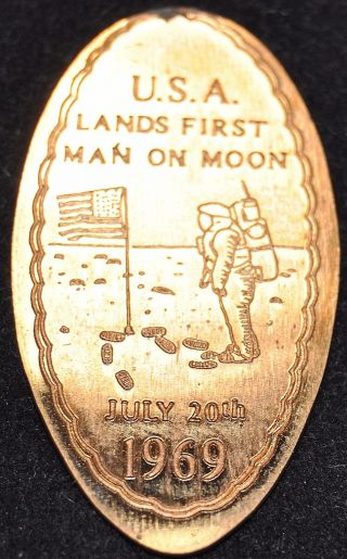 Echo - 2: Vintage Elongated Cent: U.  S.  A.  Lands First Man On Moon July 20,  1969 photo