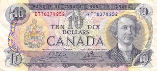 Canada $10 1971 Series Ett Circulated Banknote M9 photo