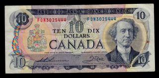 Canada 10 Dollars 1971 Fdn Pick 88e F - Vf Banknote photo