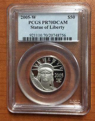 2005 Pcgs Pf70 $50 Platinum Eagle (1/2 Oz.  Coin) photo