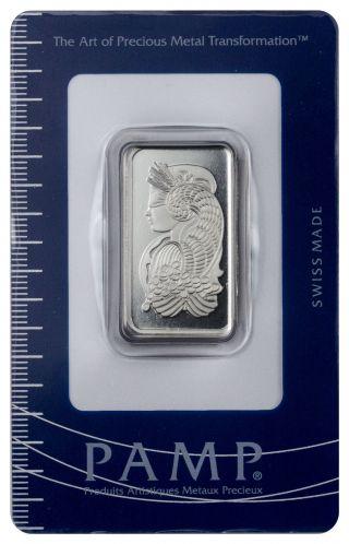 Pamp Fortuna 1/2 Oz.  Platinum Bar In Assay Sku45790 photo