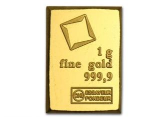1 Gram Valcambi.  9999 Fine Gold Bullion Bar From Sheet Of 50 photo