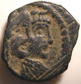 Ancient Nabataean Coin/arabia/petra/rabbell Ii/gamilat/jugate Busts photo