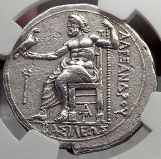 Alexander Iii The Great Lifetime Tetradrachm Big Silver Greek Coin Ngc Xf I58239 photo
