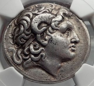 Lysimachos Silver Tetradrachm Ancient Greek Coin Alexander The Great Ngc I59774 photo