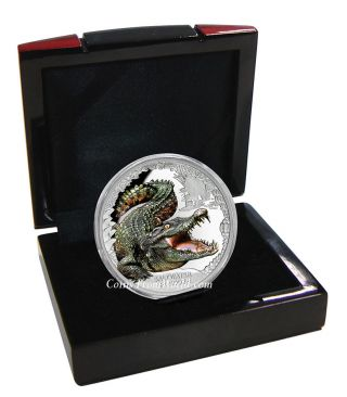 Tuvalu 2017 1$ Australias Remarkable Reptiles Saltwater Crocodile Silver Coin 5